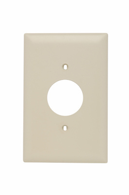 Pass & Seymour TPJ7-I 1-Gang 1-Single Receptacle Ivory Nylon Jumbo Unbreakable Wallplate