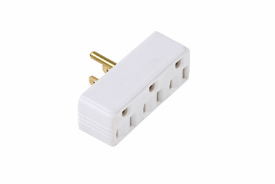 Pass & Seymour 697-W Adapter 1Outlets to 3Outlets - White