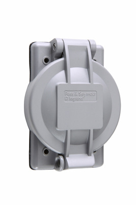 Pass & Seymour WPG-1 1-Gang Glass Filled Polycarbonate Weatherproof Flanged Inlet/Outlet Cover
