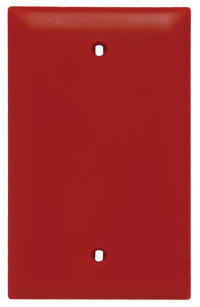 Pass & Seymour TP13-RED 1-Gang Blank Red Nylon Standard Unbreakable Wallplate