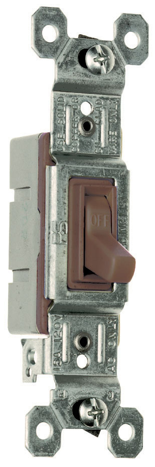 Pass & Seymour 660-G 15 Amp 120 VAC 1-Pole Brown Thermoplastic Screw Mounting Grounding Toggle Switch