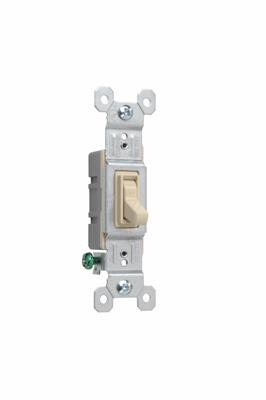 Pass & Seymour 660-IG 15 Amp 120 VAC 1-Pole Ivory Thermoplastic Screw Mounting Grounding Toggle Switch