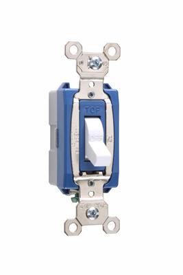 Pass & Seymour PS15AC1-W 15 Amp 120/277 VAC 1-Pole White Glass Reinforced Nylon Screw Mounting Toggle Switch