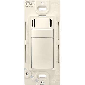 Pass & Seymour HSWF3LA 6A Fan Control Humidity Sensor - Light Almond