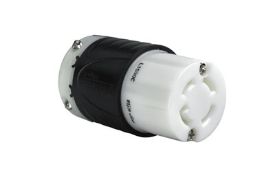 Pass & Seymour L1530-C 30 Amp 250 VAC 3-Phase 3-Pole 4-Wire L15-30R Black and White Nylon Locking Connector