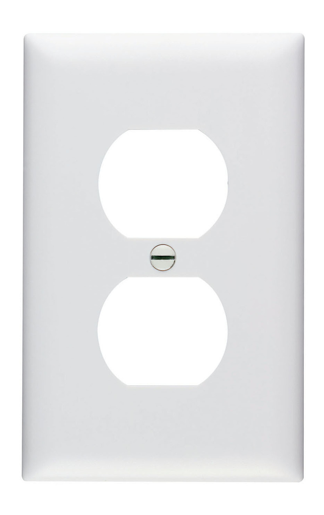 Pass & Seymour TP8-W 1-Gang 1-Duplex Receptacle White Nylon Standard Unbreakable Wallplate