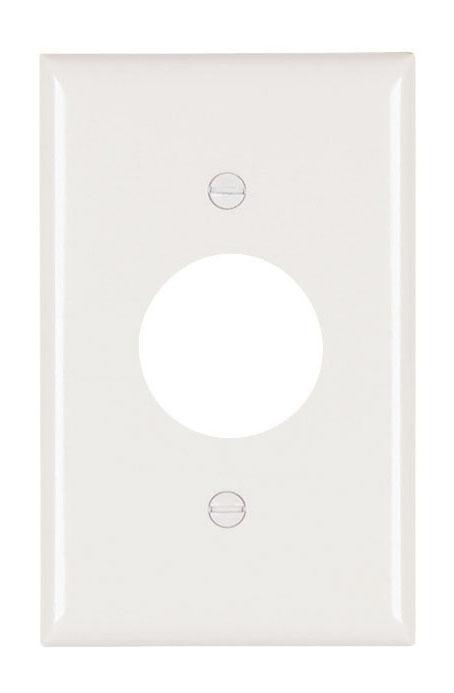 Pass & Seymour TP7-W 1-Gang 1-Single Receptacle White Nylon Standard Unbreakable Wallplate