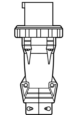 Pass & Seymour PS420P5-W Pin & Sleeve Plug, 3pole 4wire, 20a 3/600v
