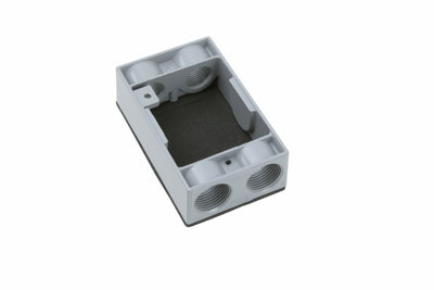 Pass & Seymour WPEX6 9.5 In Gray Weatherproof Box Extension Ring