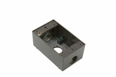 Pass & Seymour WPB33-BR 3/4 Inch 18.5 In Bronze Die-Cast Aluminum 1-Gang 3-Hole Surface Mounting Weatherproof Box