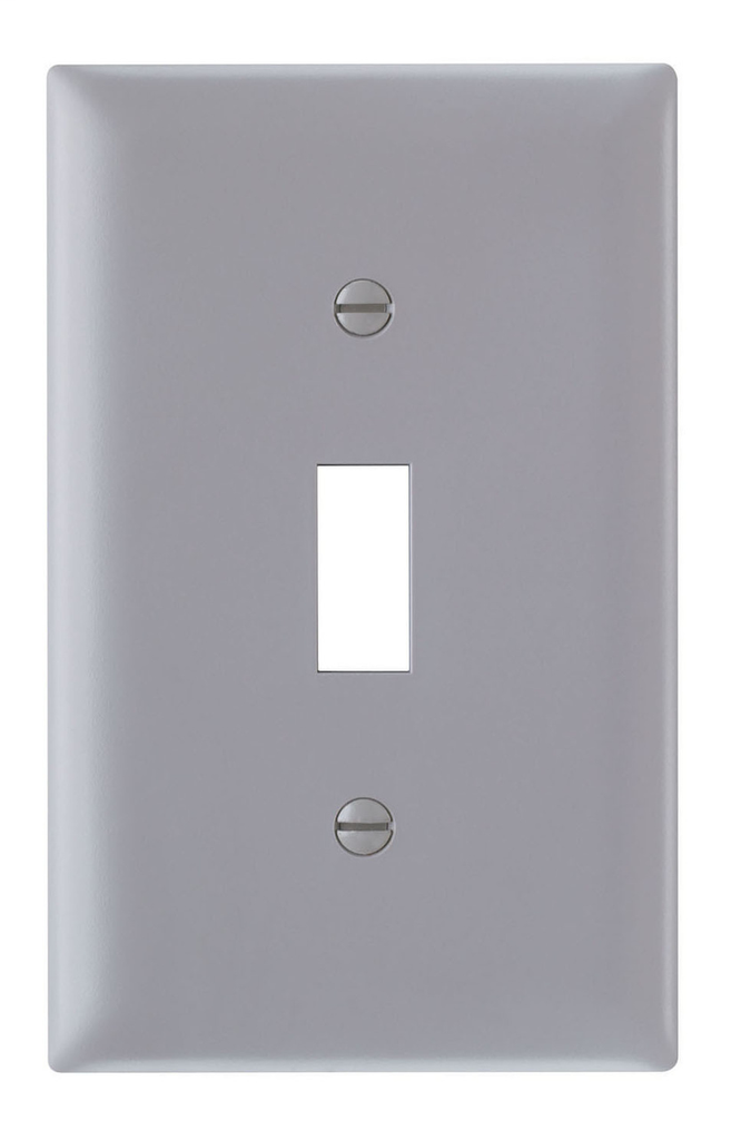 Pass & Seymour TP1-GRY 1-Gang 1-Toggle Switch Gray Nylon Standard Unbreakable Wallplate