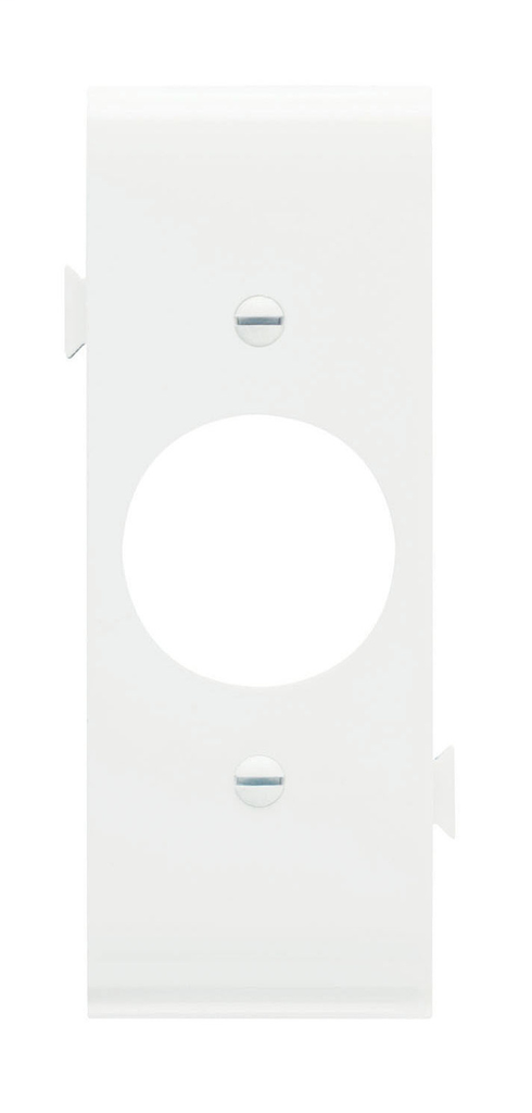 Pass & Seymour PJSC7-W 1-Single Receptacle White Smooth Nylon Semi-Jumbo Center Sectional Wallplate