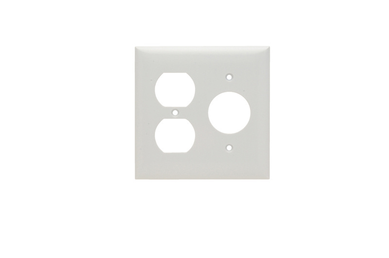 Pass & Seymour SP78-W 2-Gang 1-Single 1-Duplex White Smooth Thermoset Plastic Standard Combination Wallplate