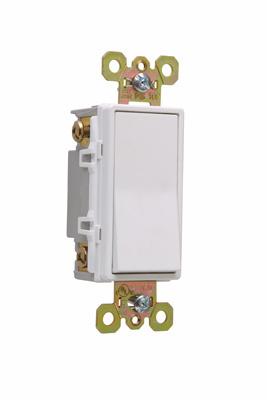 Pass & Seymour 2624-W 20 Amp 120/277 VAC 4-Way White Polycarbonate Screw Mounting Rocker Decorator Switch