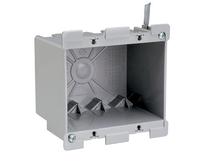 """Pass & Seymour S2-32-W 3-3/4 x 4-1/16 x 3-1/32"""" 32"""" 2-Gang Thermoplastic Switch and Outlet Box"""