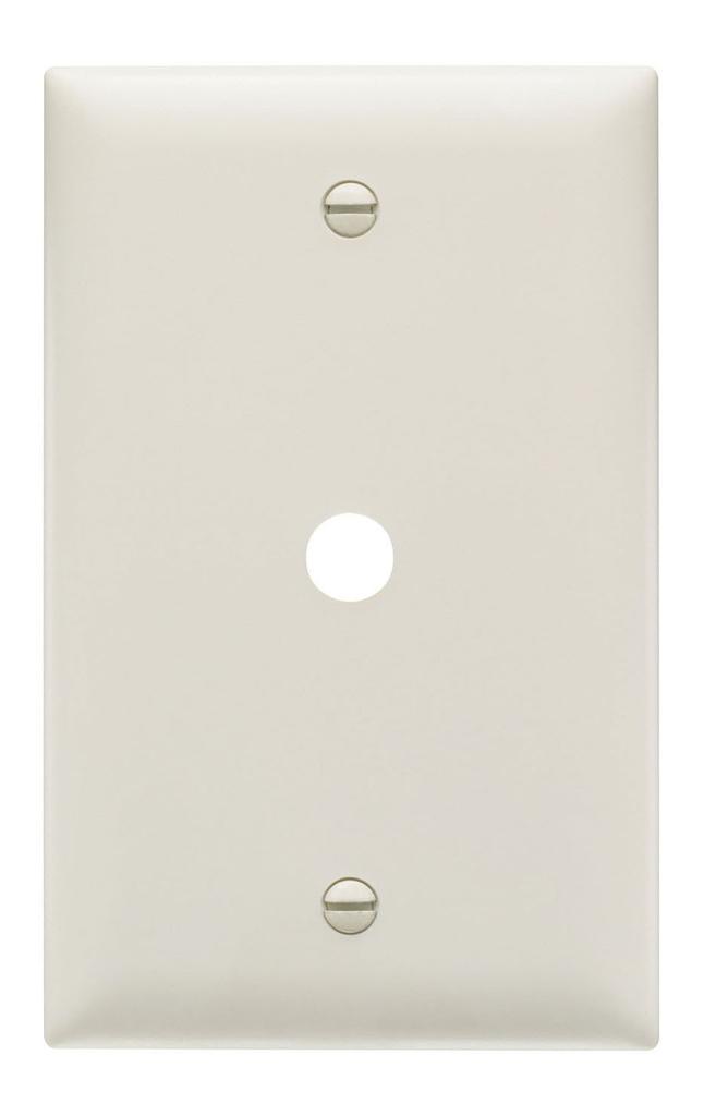 Pass & Seymour TP11-LA 1-Gang 1-Telephone/Cable Outlet Light Almond Nylon Standard Unbreakable Communication Wallplate