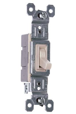 Pass & Seymour 660-LAG 15 Amp 120 VAC 1-Pole Light Almond Thermoplastic Screw Mounting Grounding Toggle Switch