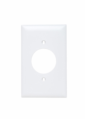 Pass & Seymour TP720-W 1-Gang 1-Power Outlet Receptacle White Nylon Standard Unbreakable Wallplate