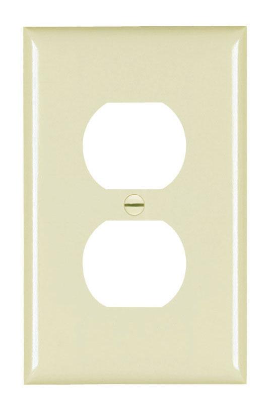 Pass & Seymour TPJ8-I 1-Gang 1-Duplex Receptacle Ivory Nylon Jumbo Unbreakable Wallplate