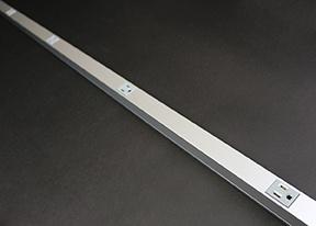 Wiremold AL20GB512 5 Foot x 1-7/16 x 1-1/8 Inch Satin Anodized Aluminum 1-Channel Raceway Multi-Outlet Strip