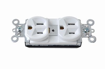 Pass & Seymour PT5262W 15 Amp 125 Volt White PlugTail Spec Grade Receptacles