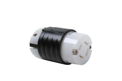 Pass & Seymour L1620-C 20 Amp 480 VAC 3-Phase 3-Pole 4-Wire L16-20R Black and White Nylon Locking Connector