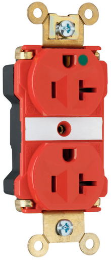 Mayer-PlugTail® Extra Heavy-Duty Hospital Grade Receptacles, 20A, 125V, Red-1