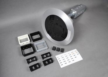 Mayer-AV3 Flush A/V Assembled Poke-Thru Assembly, Black-1