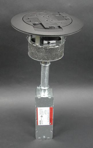 Mayer-RC3 Multi-Service Poke-Thru Assembly, Black-1