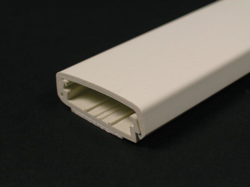 Mayer-Wiremold 2300 Series Raceway Base and Cover, Ivory-1