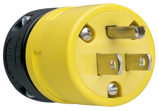 Mayer-15A, 125V Rubber Dust-Tight Plug, Yellow-1