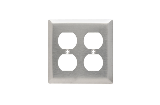 Mayer-Duplex Receptacle Openings, Two Gang, 302/304 Stainless Steel-1