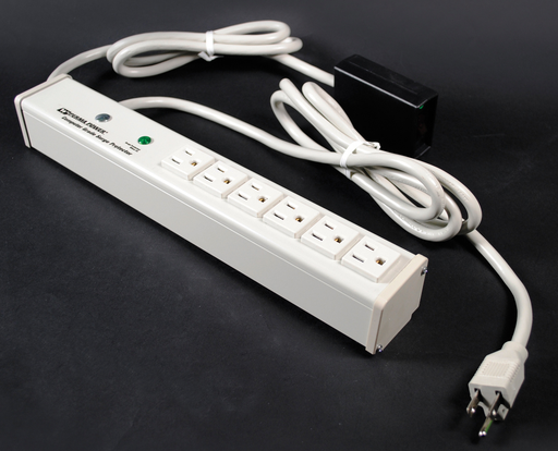 Plug-In Outlet Center Unit / 120V/15A/6 O/L /remote lighted switch/15' cord/Computer Grade Surge