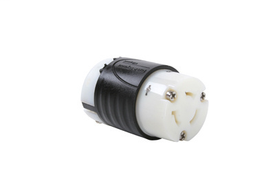 Mayer-20 Amp NEMA Connector L820 - Black Back, White Front Body-1