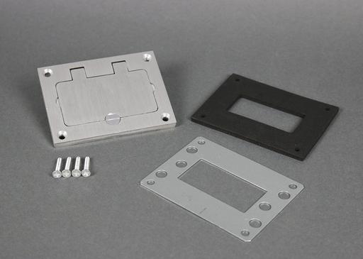 Mayer-Omnibox® Rectangular Aluminum GFI Cover Plate-1