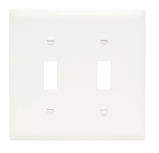 Mayer-Toggle Switch Openings, Two Gang, White-1