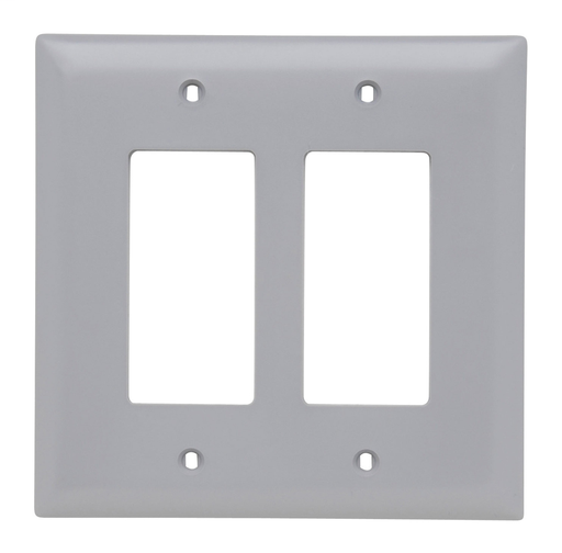 Decorator Openings, Two Gang, Gray