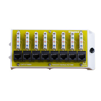 Mayer-8 Port Cat6 Network Interface Module-1