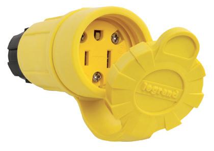 Mayer-15A, 125V Watertight Connector, Yellow-1