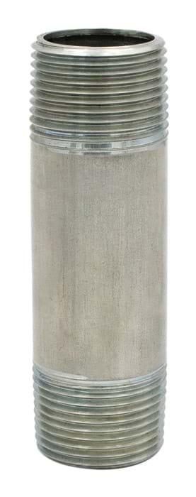 """3/4"""" x 4"""" .304 Stainless Steel Pipe Nipple"""