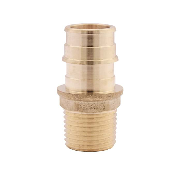 """1"""" No Lead Forged Brass Cold Expansion (F 1960) PEX x MNPT Adapter"""