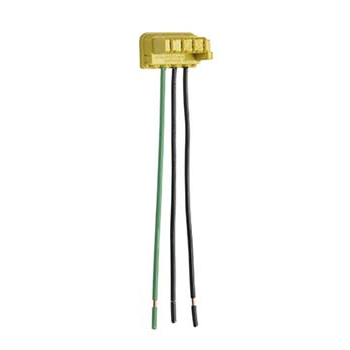 """Mayer-PlugTail Switch Right Angle Connector 3-Wire, 6"""" Solid THHN12-1"""