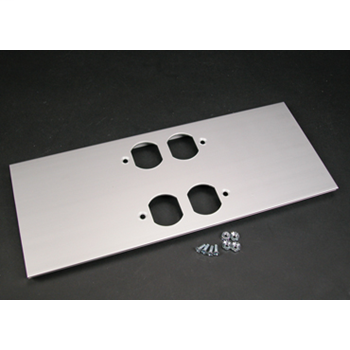 Wiremold,AL5246-DD,2 DUPLEX COVER PLATE