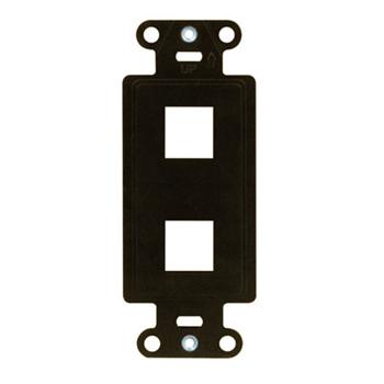 2-Port Decorator Outlet Strap, Brown