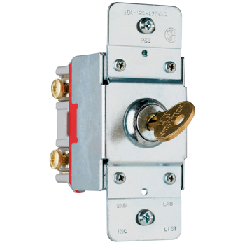 PAS PS20AC1-KL 20A 120/277V AC SW KEY LOCK