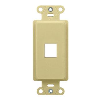 1-Port Decorator Outlet Strap, Ivory