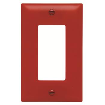 Pass & Seymour TP26-RED 1-Gang 1-Decorator Red Nylon Standard Unbreakable Wallplate