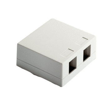 On-Q WP3502-WH 2-Port White High Impact Plastic Surface Mount Box