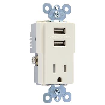 PAS TM8-USBLACC6 COMBO RCPT+USB SW