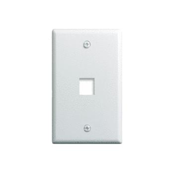 1-Gang, 1-Port Wall Plate, White